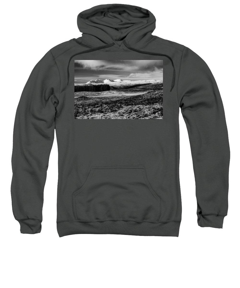 An Teallach Sweatshirt featuring the photograph An Teallach by Derek Beattie
