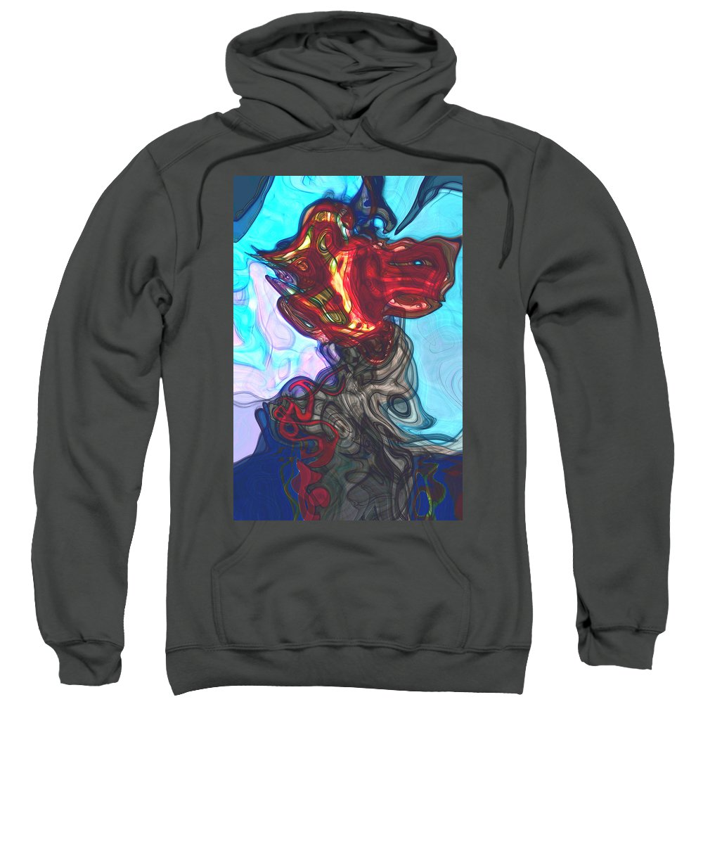 Abstract Sweatshirt featuring the digital art Anatomy by Richard Thomas