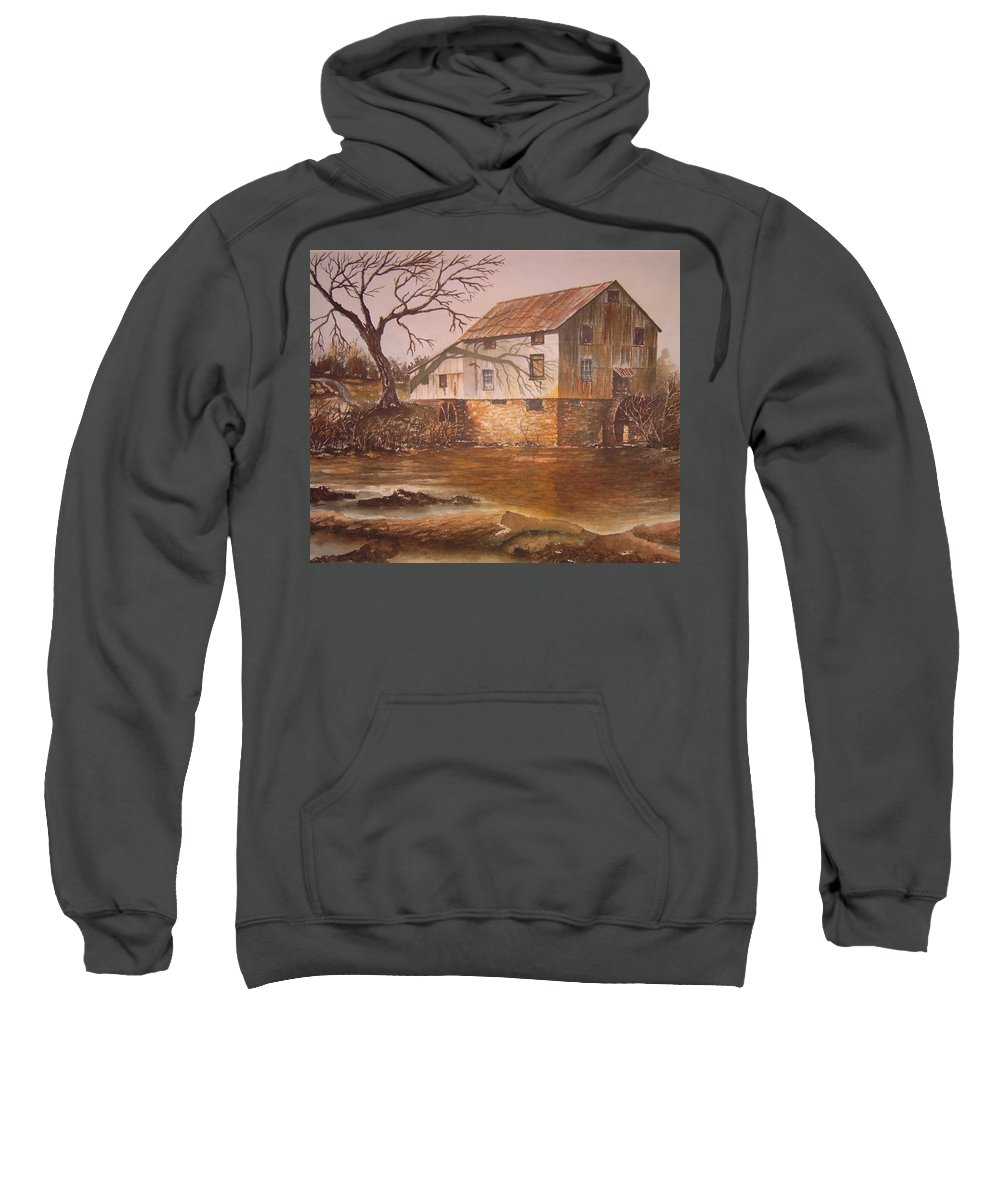 Landscape Sweatshirt featuring the painting Anderson Mill by Ben Kiger