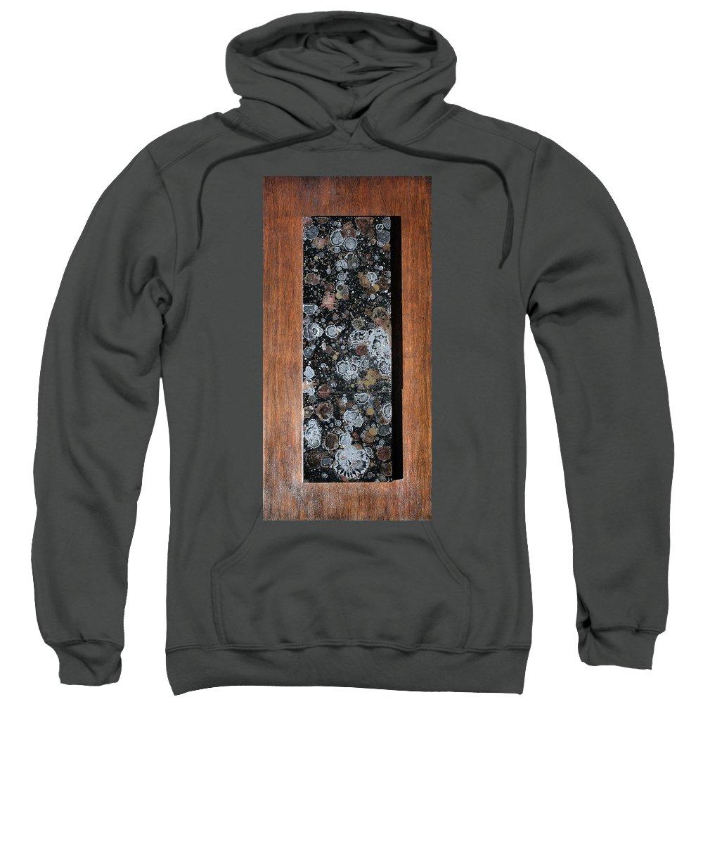 Nonobjective Art Sweatshirt featuring the painting Andiamo by Ric Bascobert