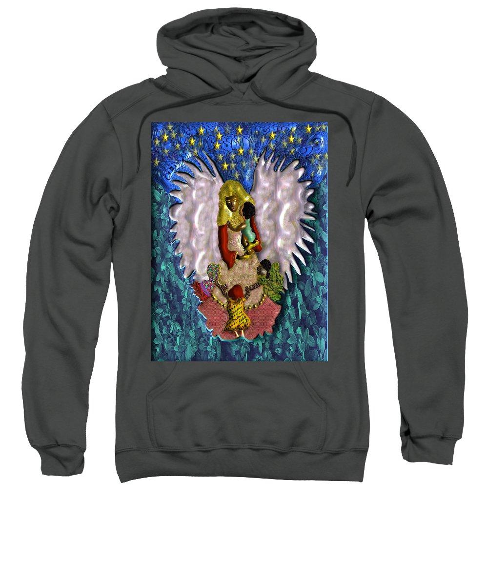 Religion Sweatshirt featuring the digital art Angel by John Clarke