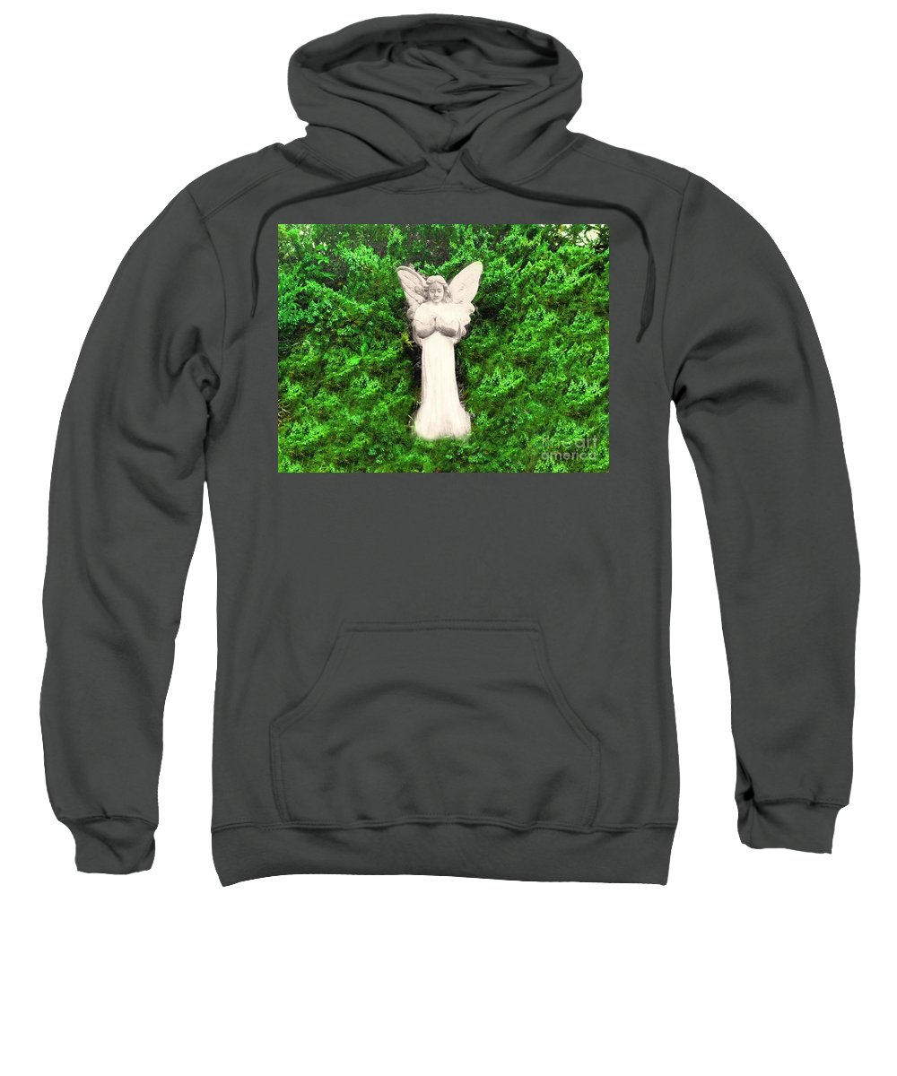 Angel Sweatshirt featuring the photograph Angel My Gaurdian by Becky Lupe