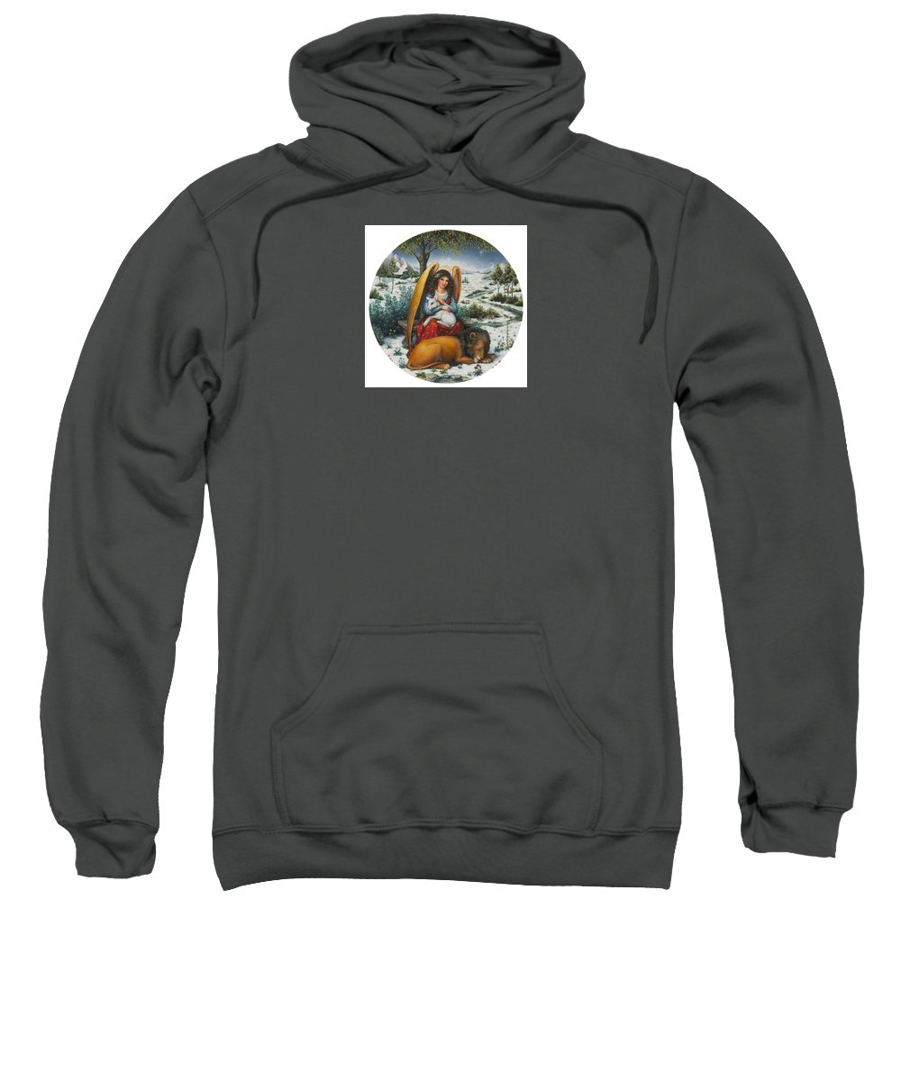 Angel Sweatshirt featuring the painting Angel Of Peace by Lynn Bywaters