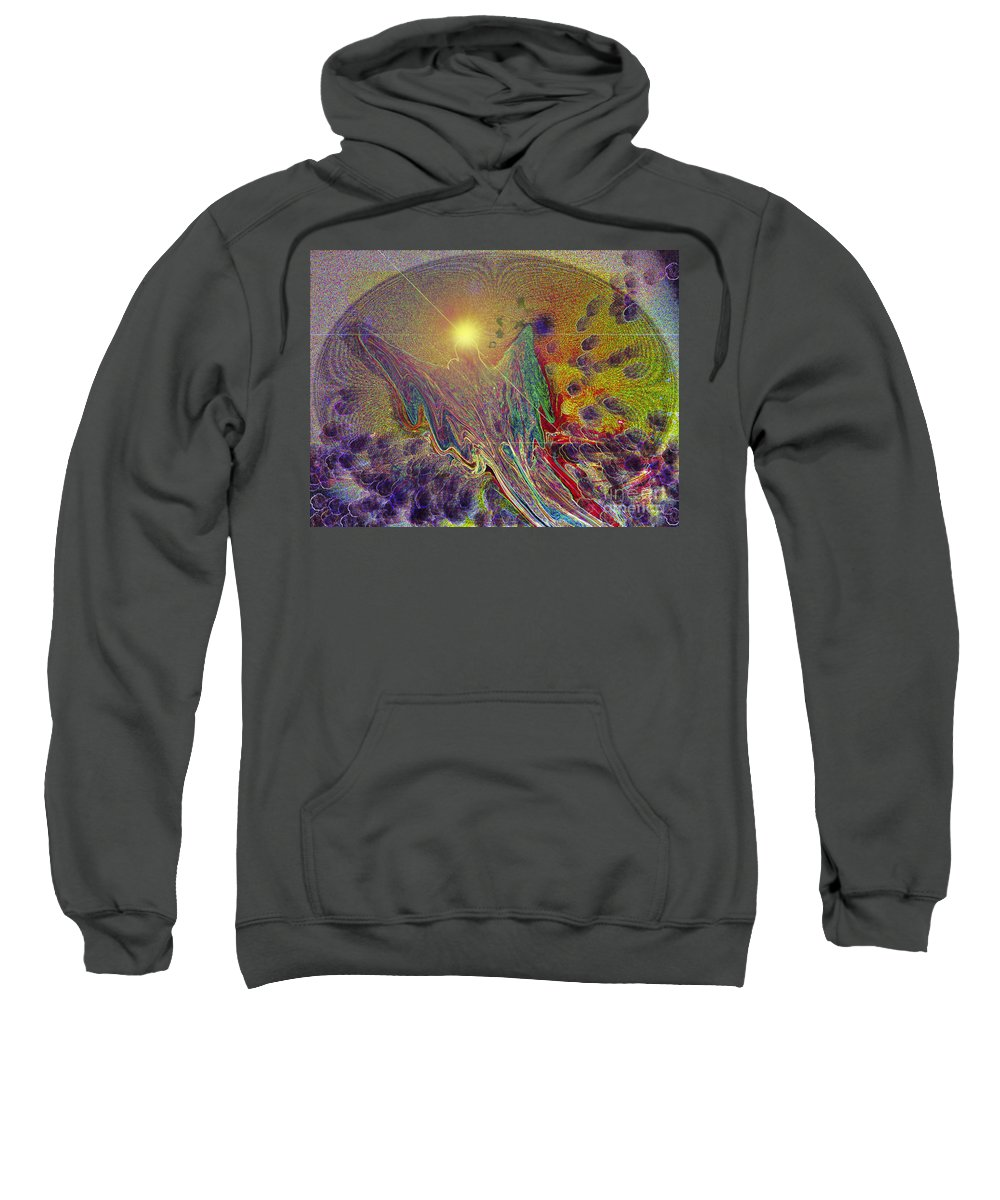 Digital Art.whale Sweatshirt featuring the digital art Angel Taking Flight by Alison Caltrider