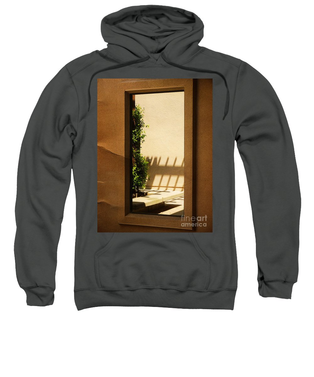 Window Sweatshirt featuring the photograph Angled Reflections2 by Meghan at FireBonnet Art
