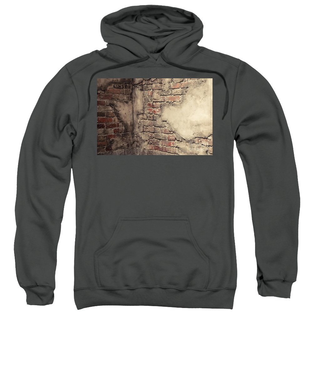 Brick Sweatshirt featuring the photograph Another Brick In The Wall by Bianca Nadeau