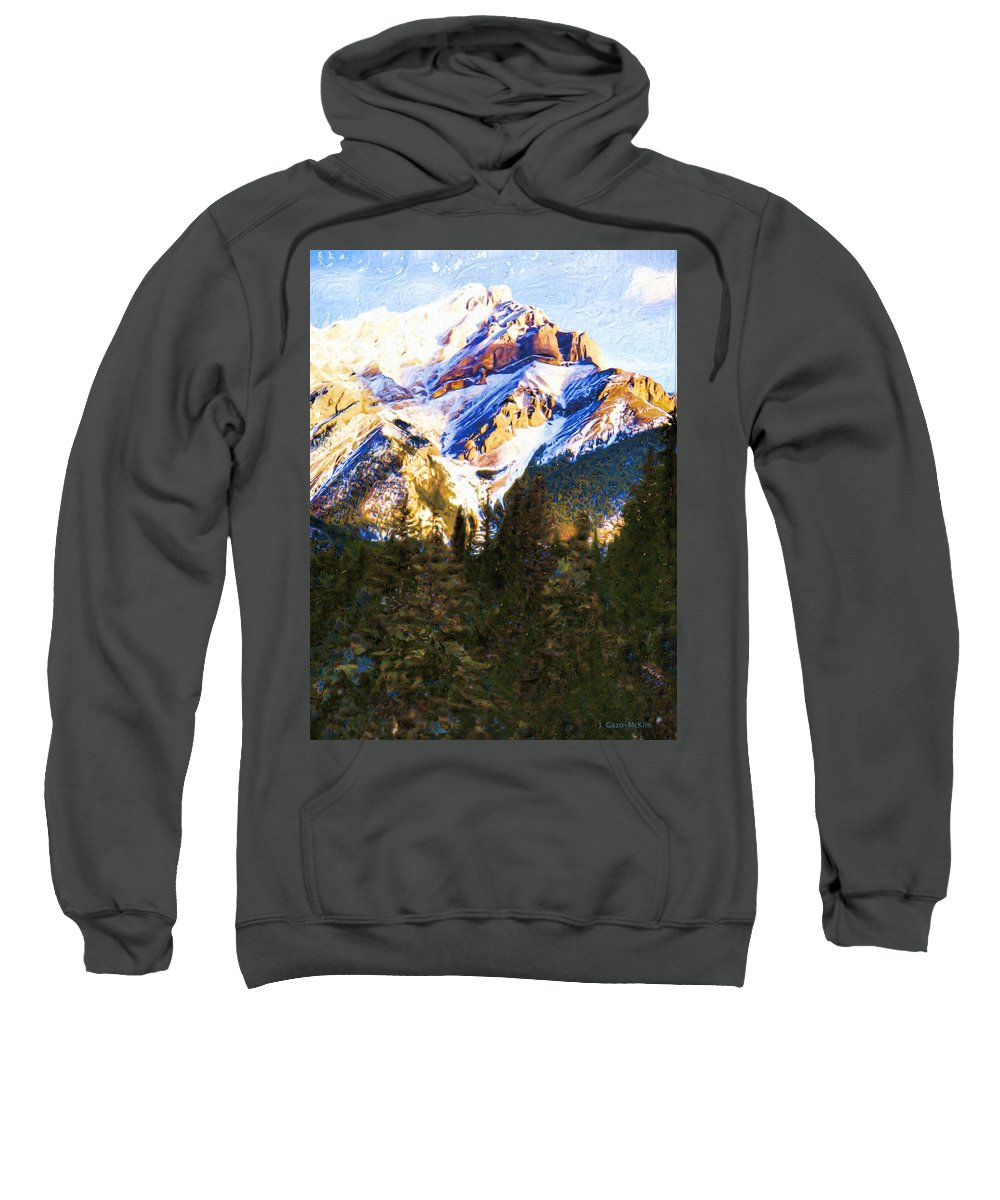Mountain Sweatshirt featuring the digital art Another View Of My Mountain by Jo-Anne Gazo-McKim