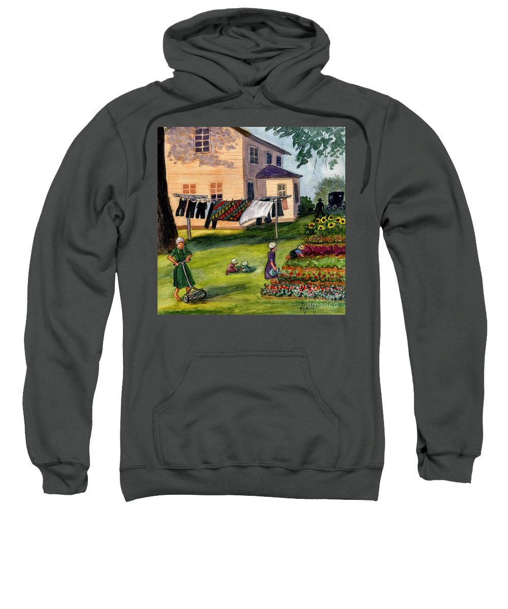 Amish Sweatshirt featuring the painting Another Way Of Life II by Marilyn Smith