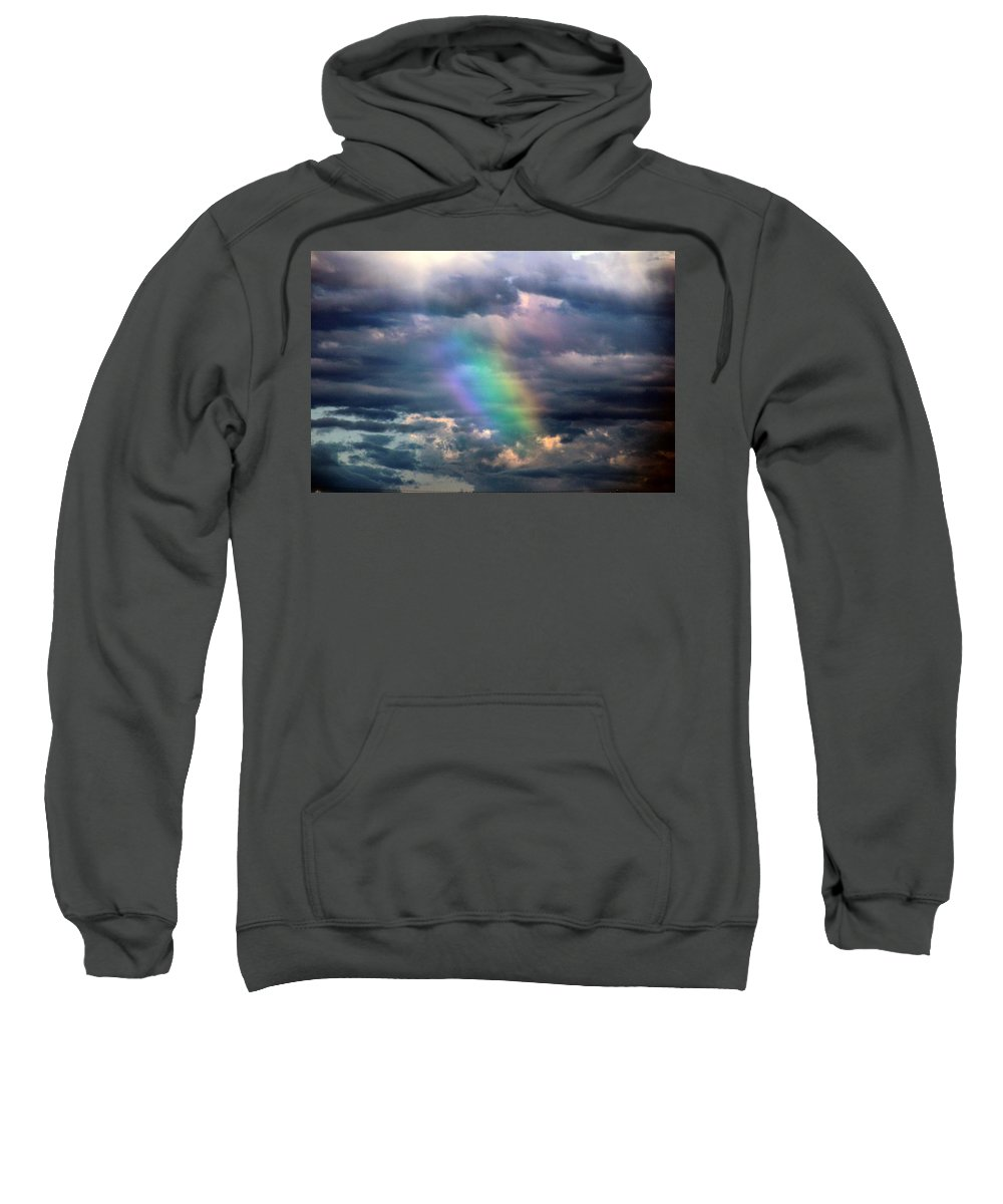 Stormscape Sweatshirt featuring the photograph Another Weak Nebraska Cell... by NebraskaSC