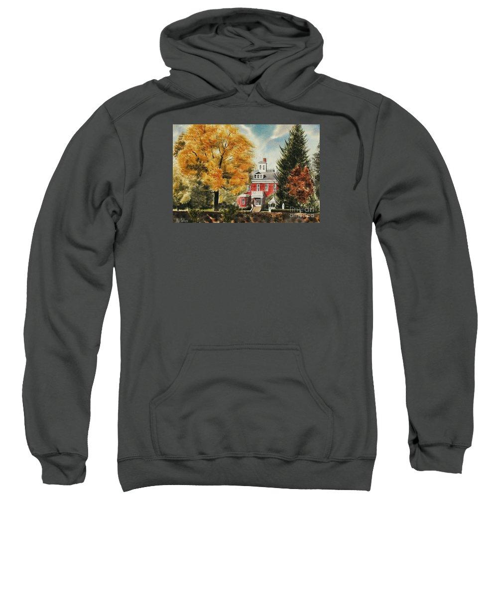 Antebellum Autumn Ironton Missouri Sweatshirt featuring the painting Antebellum Autumn Ironton Missouri by Kip DeVore