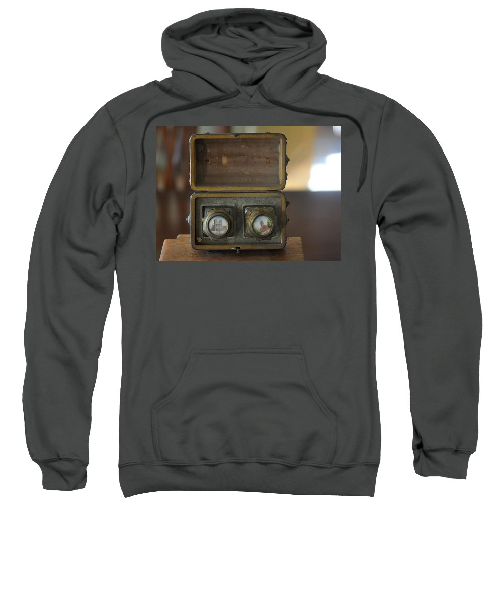 Wooden Box Sweatshirt featuring the photograph Antique Ink Wells by Jay Milo