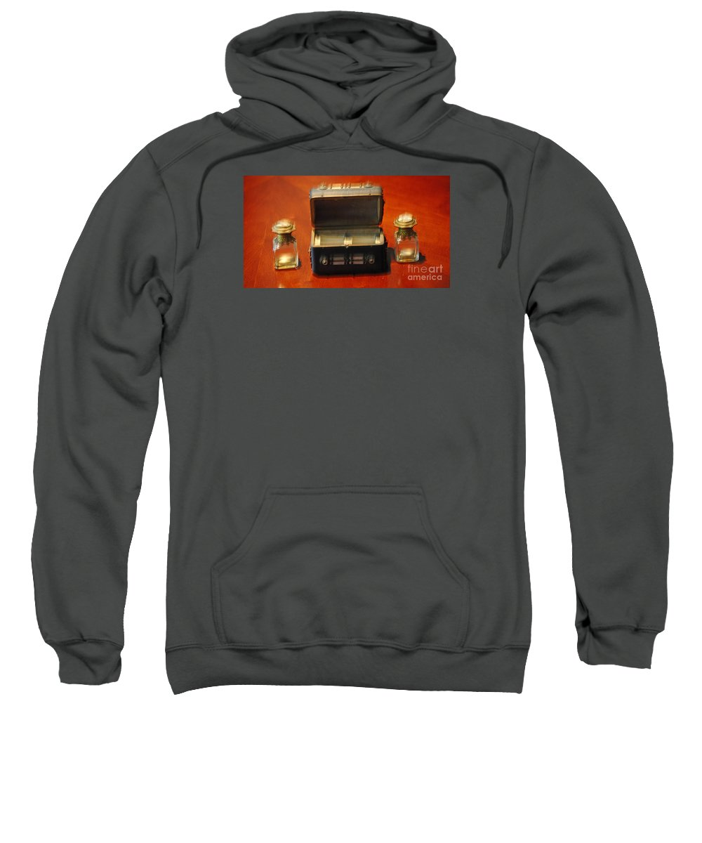 Inkwells Sweatshirt featuring the photograph Antique Inkwells 3 by Jay Milo