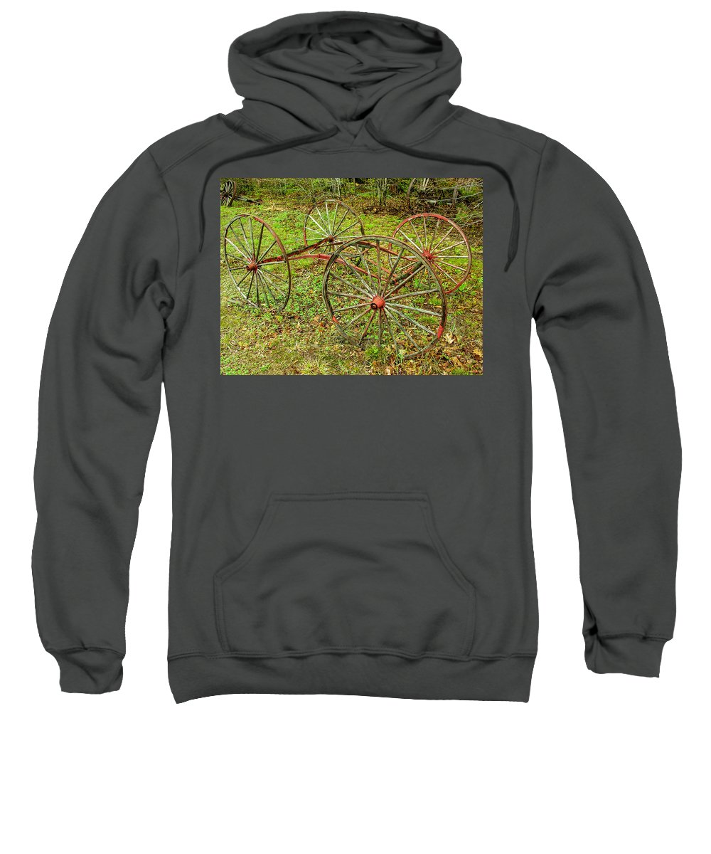 Antique Sweatshirt featuring the photograph Antique Wagon Frame by Sherman Perry