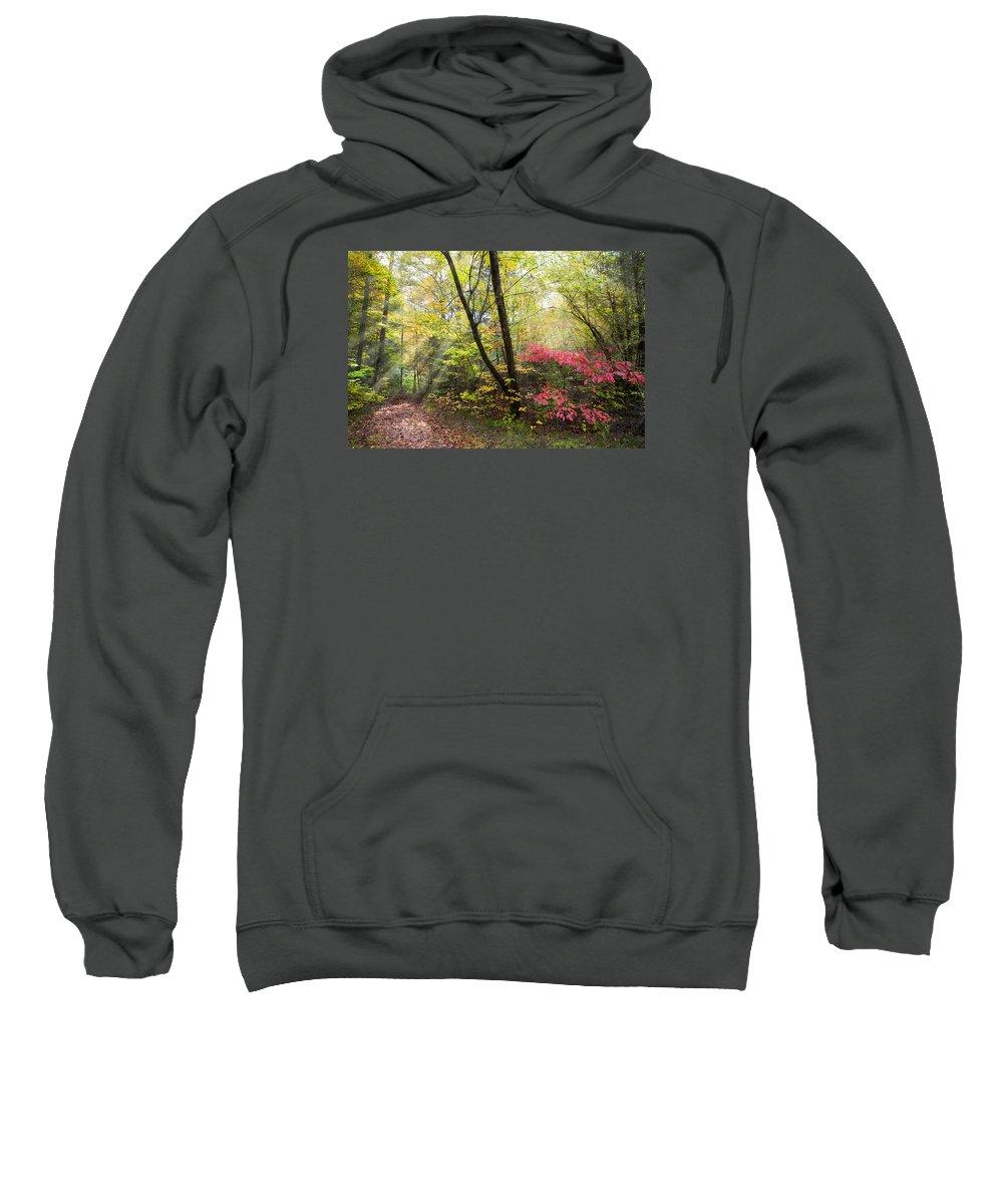 Appalachia Sweatshirt featuring the photograph Appalachian Mountain Trail by Debra and Dave Vanderlaan
