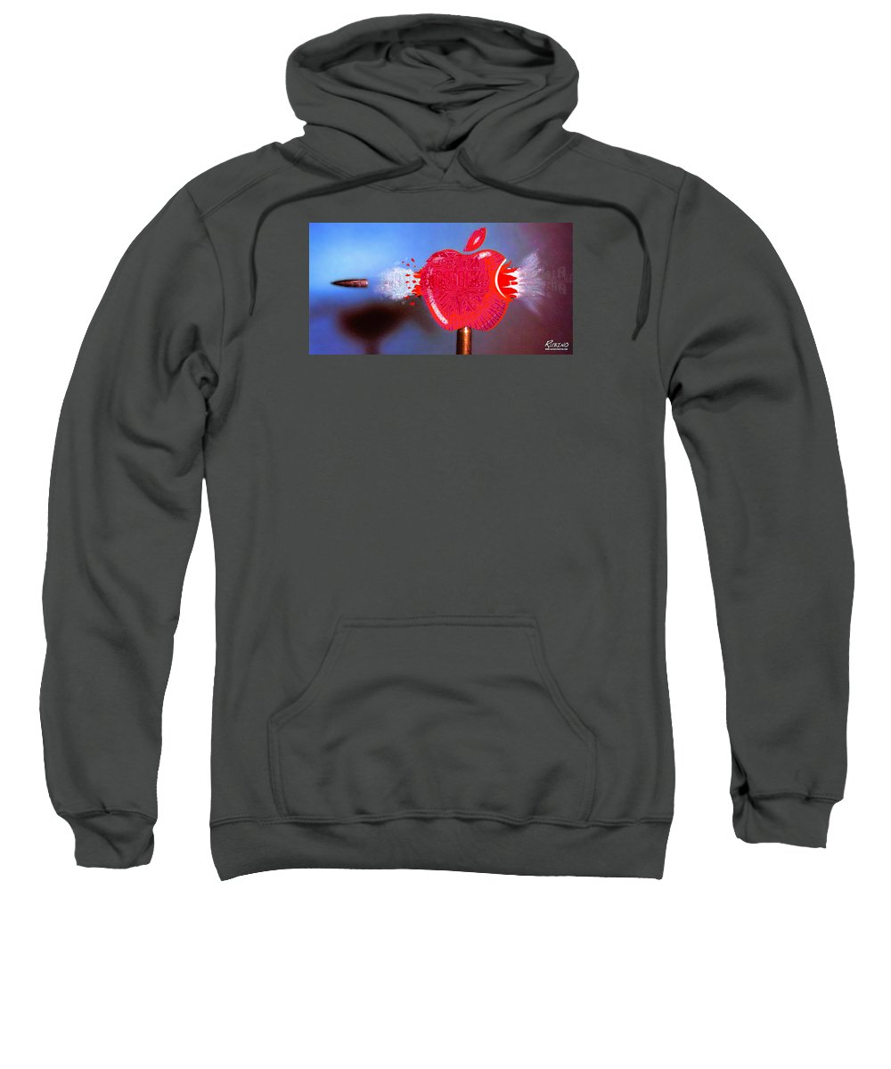 Apple Computers Sweatshirt featuring the painting Apple by Tony Rubino