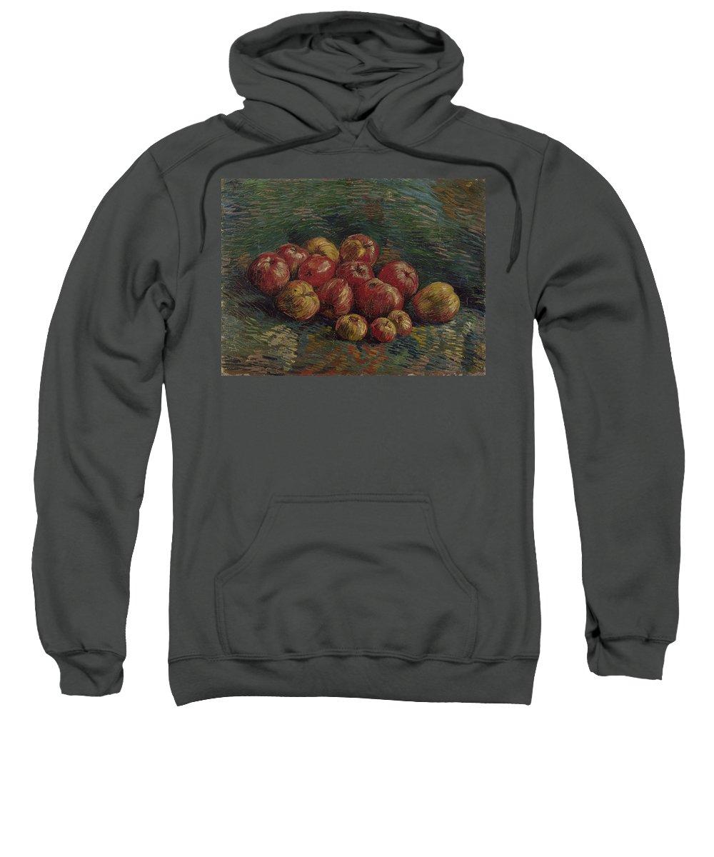 Vincent Van Gogh Sweatshirt featuring the painting Apples by Vincent Van Gogh