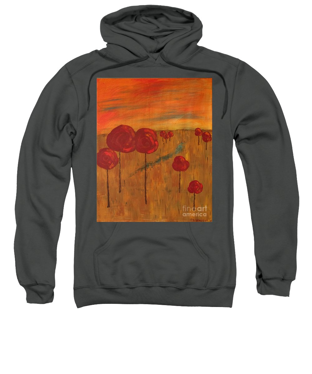 Wright Sweatshirt featuring the painting Appletrees by Paulette B Wright