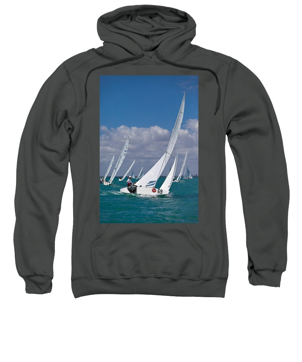 Waiting Room Sweatshirt featuring the photograph Approaching The Mark by David Smith
