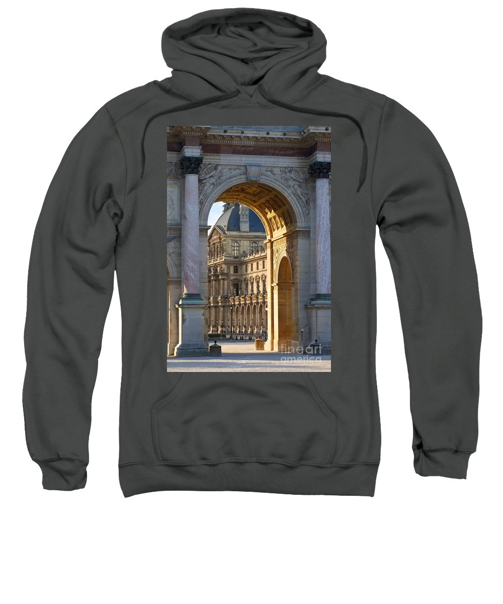 Arc De Triomphe Du Carrousel Sweatshirt featuring the photograph Arc De Triomphe Du Carrousel by Brian Jannsen