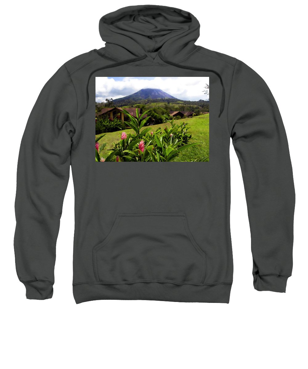 Tropical Sweatshirt featuring the photograph Arenal Costa Rica by Kurt Van Wagner