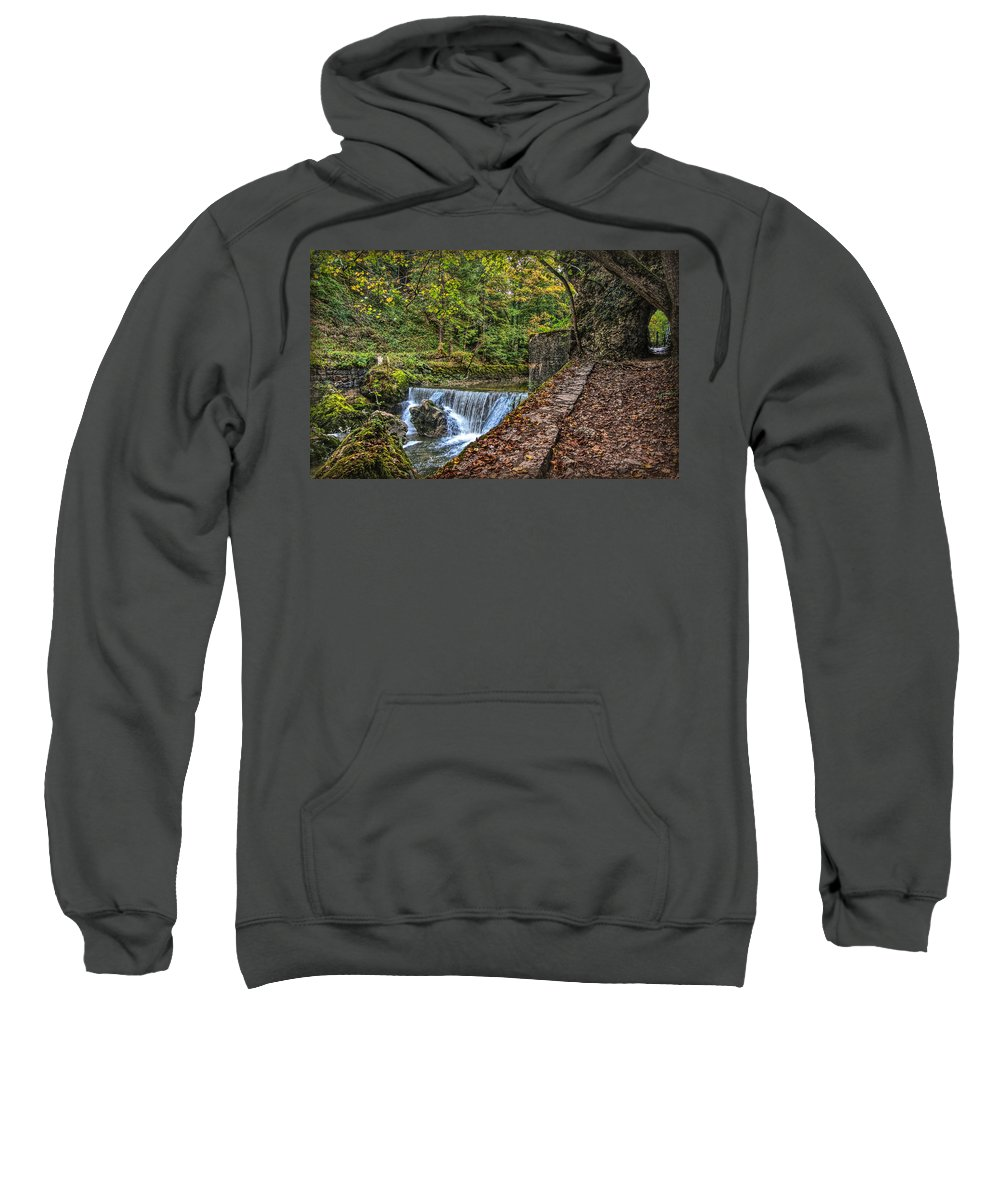 Switzerland Sweatshirt featuring the photograph Areuse Gorge by Hanny Heim
