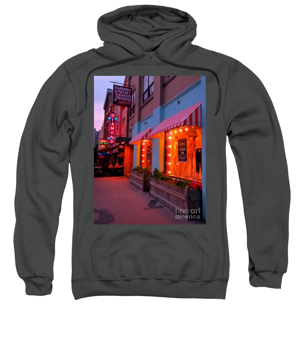 Streetscapes Sweatshirt featuring the photograph Argyle Street Halifax by John Malone