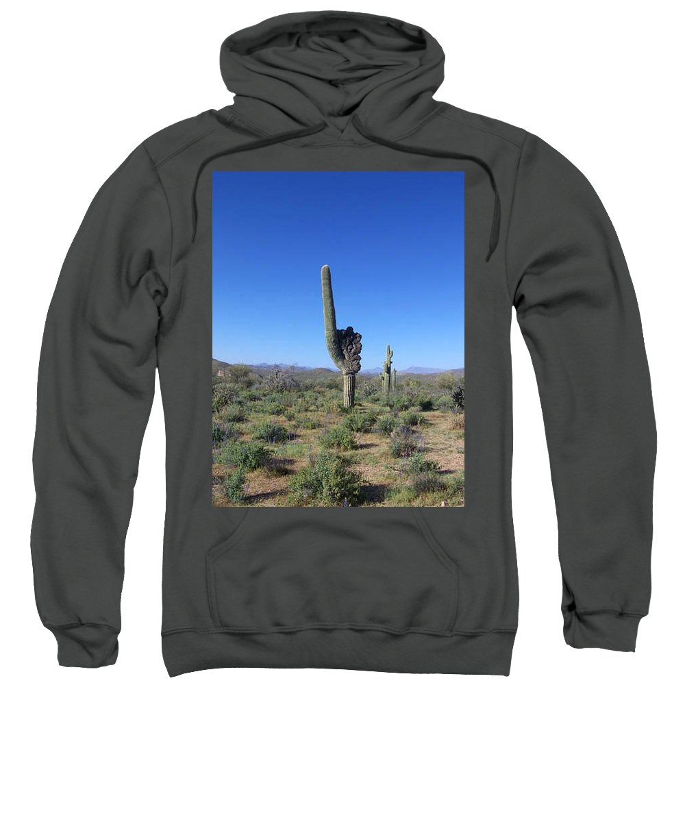 Sahuaro Sweatshirt featuring the photograph Arizona Is Number One by Kathy McClure