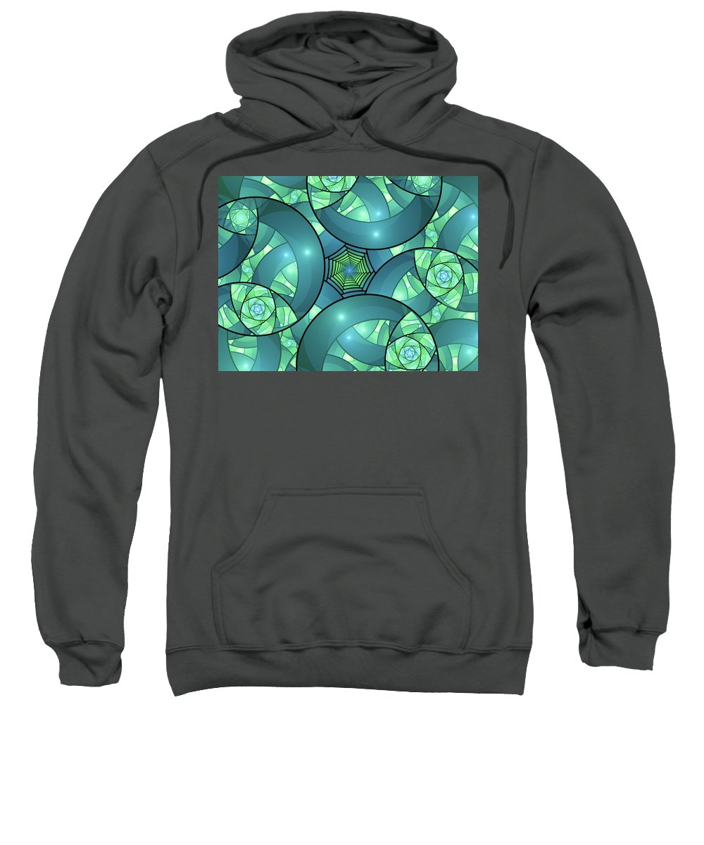 Bright Sweatshirt featuring the digital art Art Deco by Gabiw Art