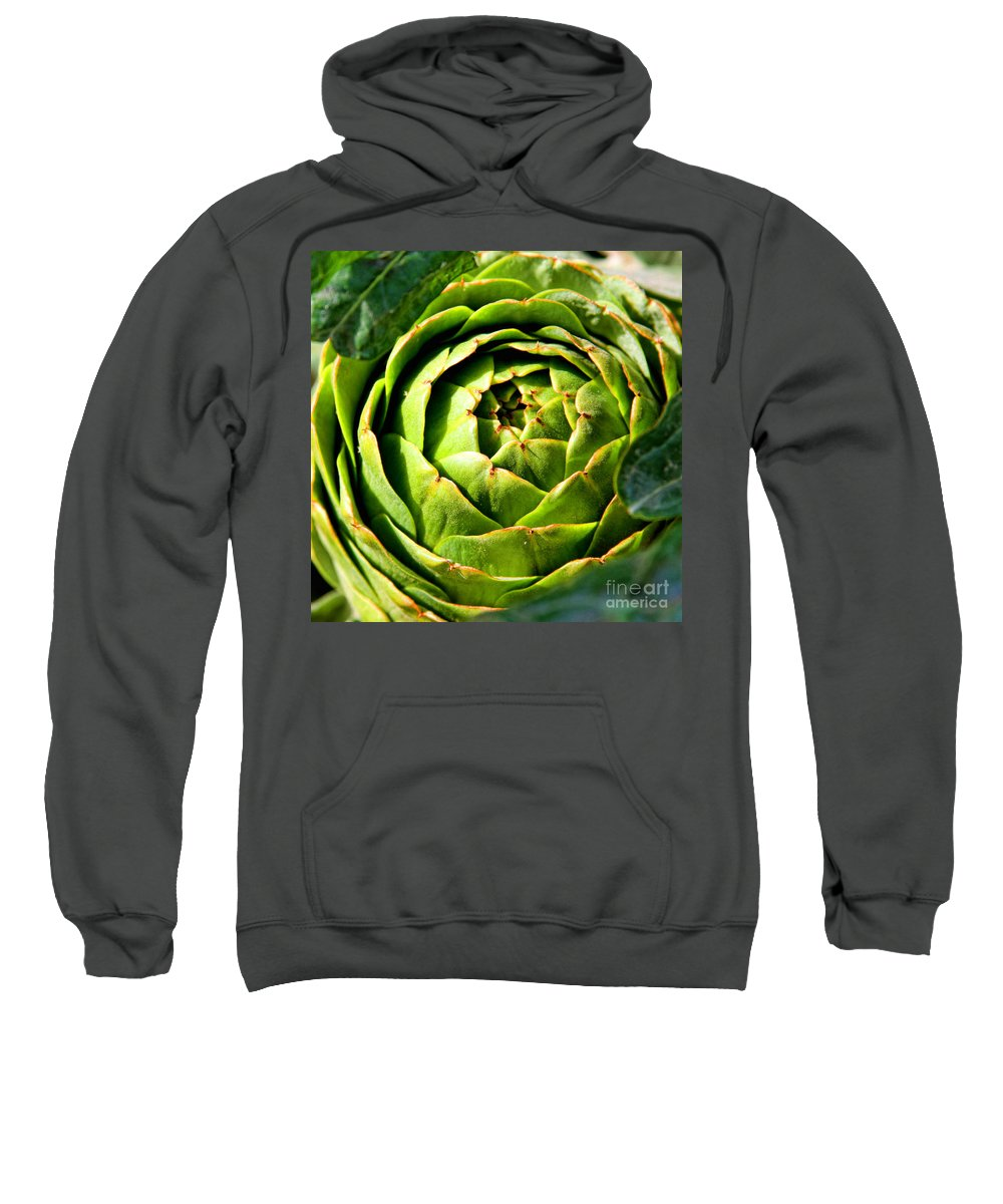 Artichoke Sweatshirt featuring the photograph Art E. Choke - Artichokes By Diana Sainz by Diana Raquel Sainz