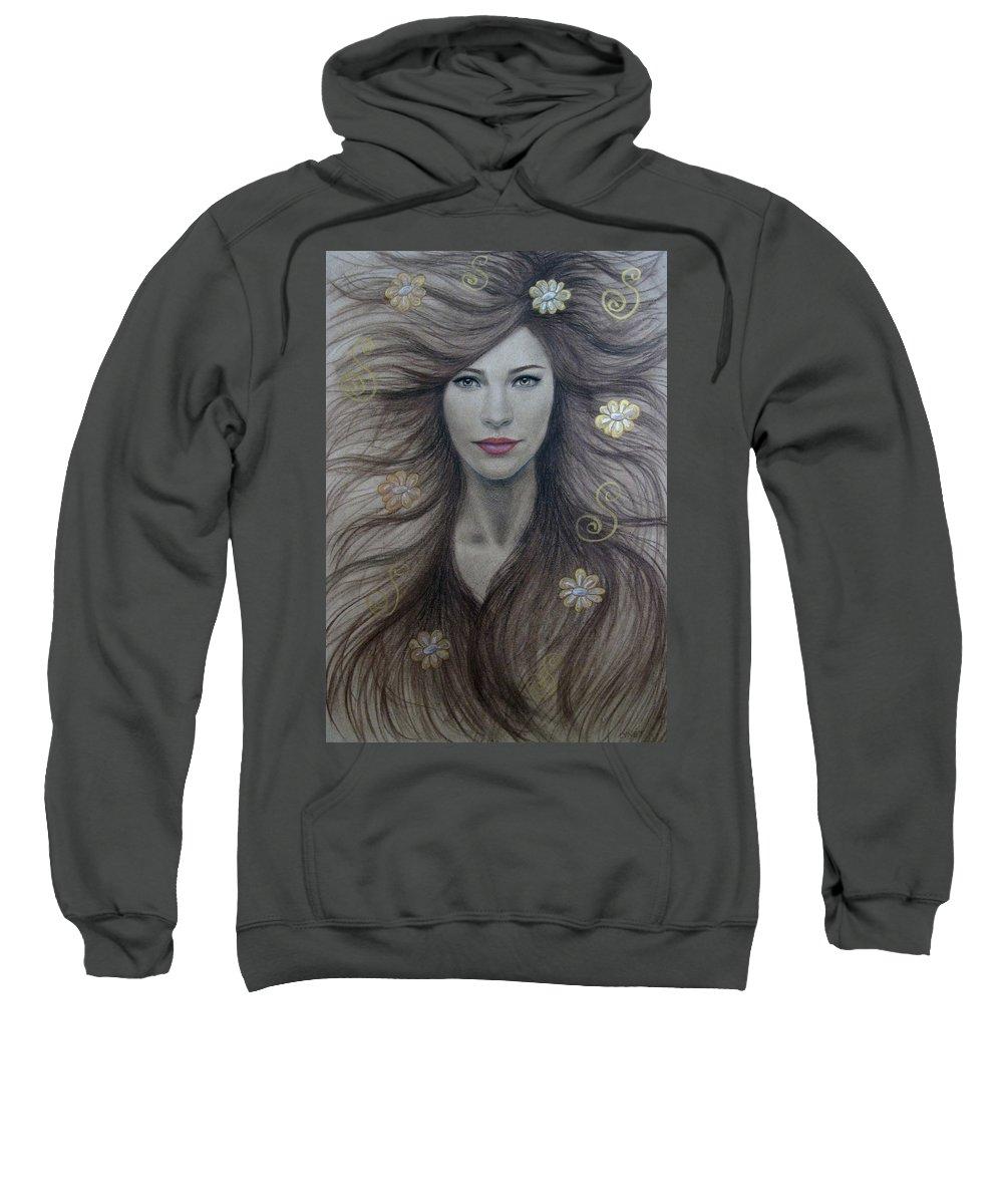 Artemis Sweatshirt featuring the painting Artemis by Lynet McDonald