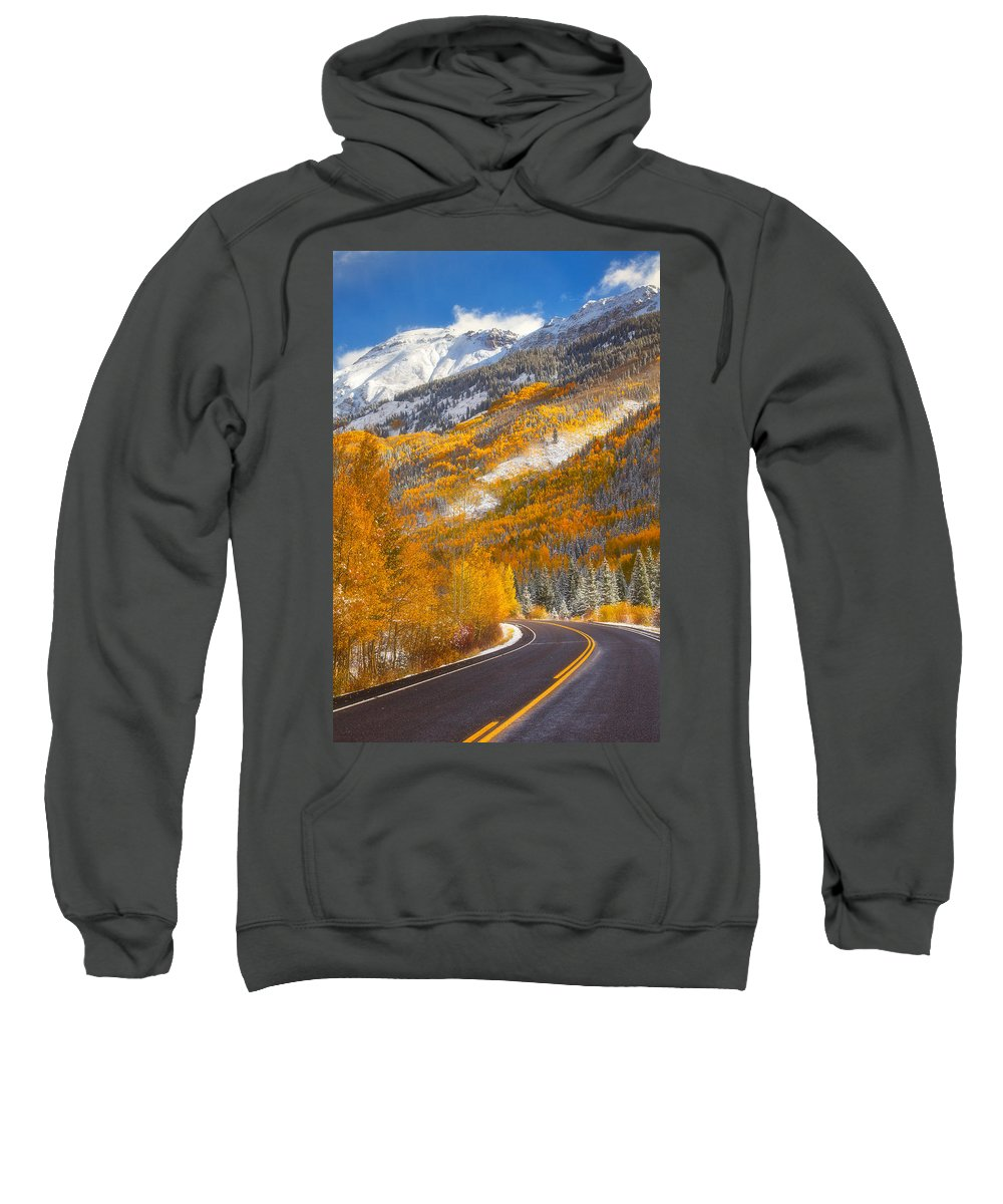 Colorado Sweatshirt featuring the photograph Aspen Highway by Darren White