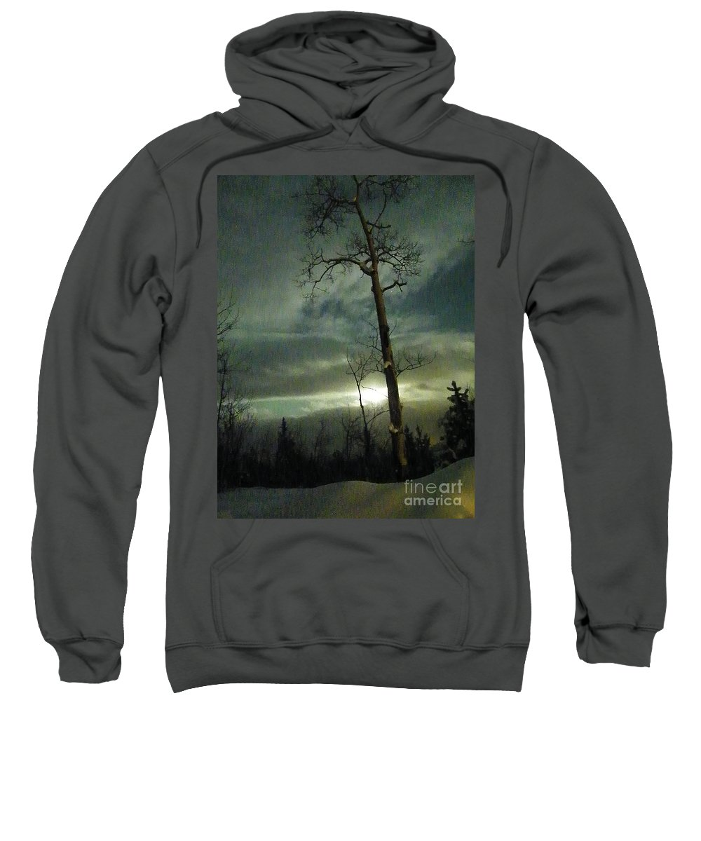 Aspen Sweatshirt featuring the photograph Aspen In Moonlight by Brian Boyle