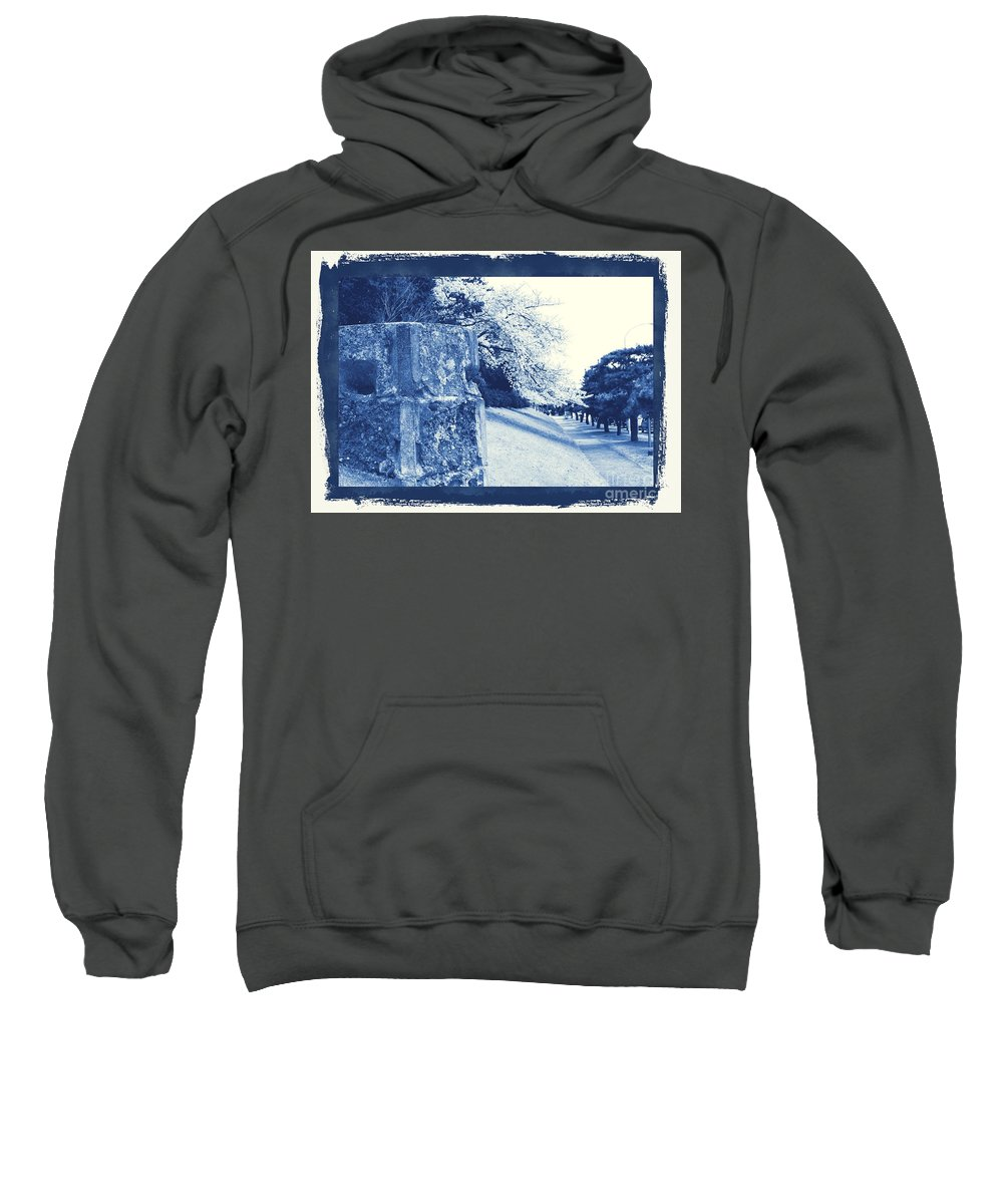 Cherry Sweatshirt featuring the photograph Atsugi Pillbox Walk E by Jay Mann