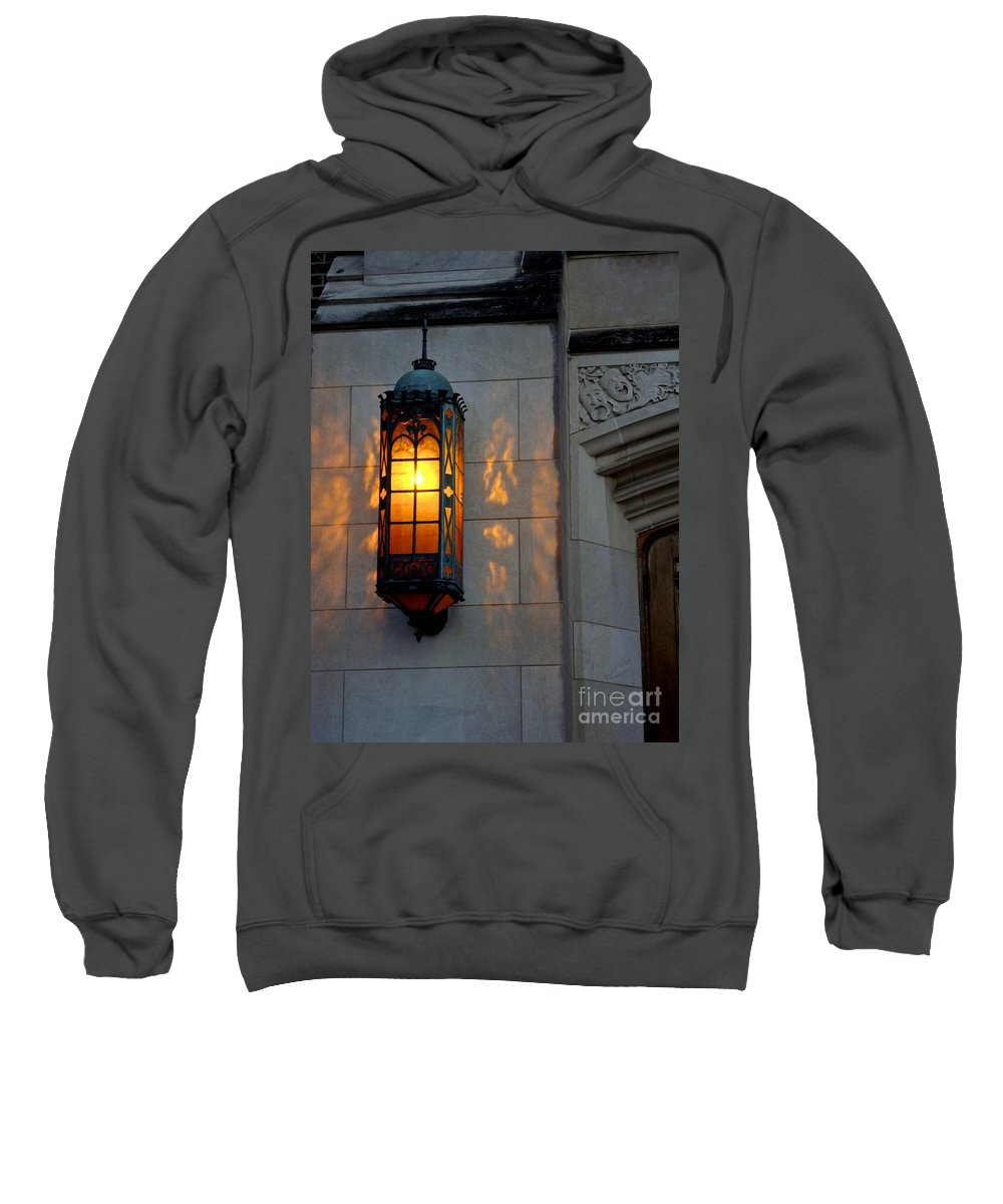 Copper Lamp Sweatshirt featuring the photograph Auditorium by Joseph Yarbrough
