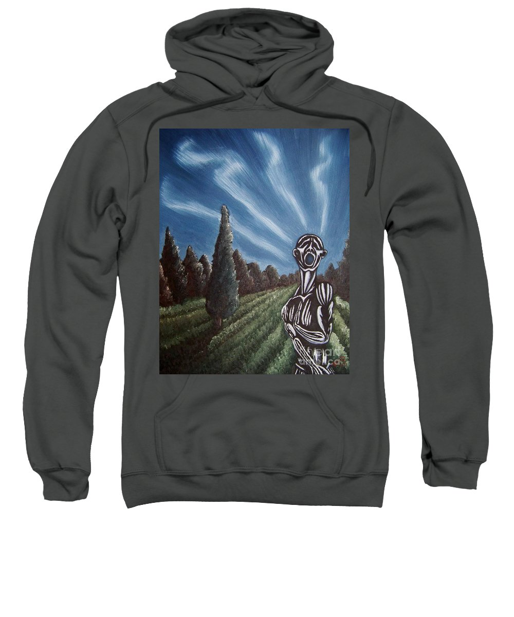 Tmad Sweatshirt featuring the painting Aurora by Michael TMAD Finney