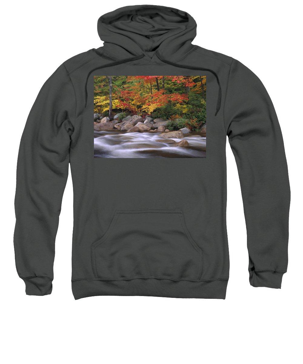 Autumn Sweatshirt featuring the photograph Autumn Along Swift River by Tim Fitzharris