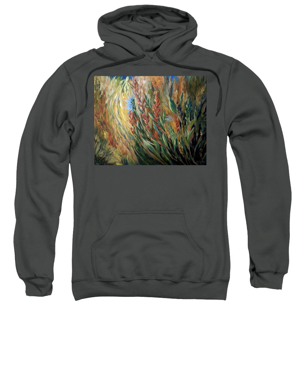 Autumn Floral Blooms Sweatshirt featuring the painting Autumn Bloom by Joanne Smoley