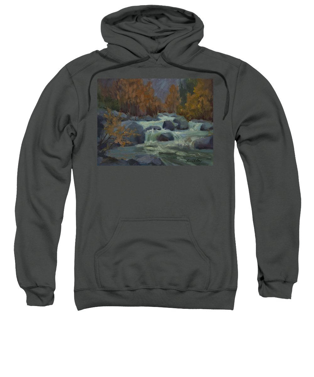 Autumn Color Sweatshirt featuring the painting Autumn Color Blewitt Pass by Diane McClary