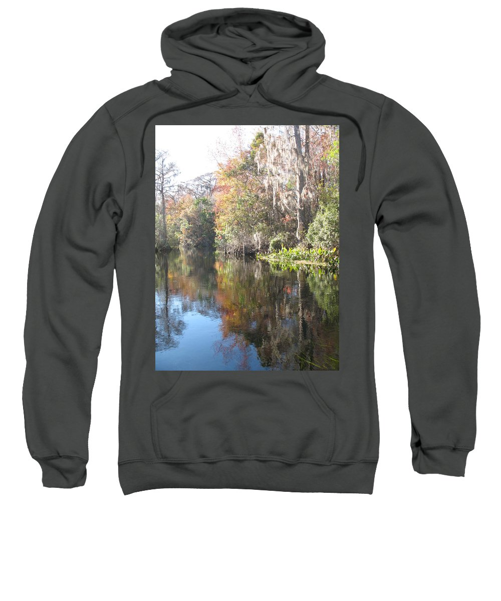 Swamp Sweatshirt featuring the photograph Autumn In A Swamp by Christiane Schulze Art And Photography