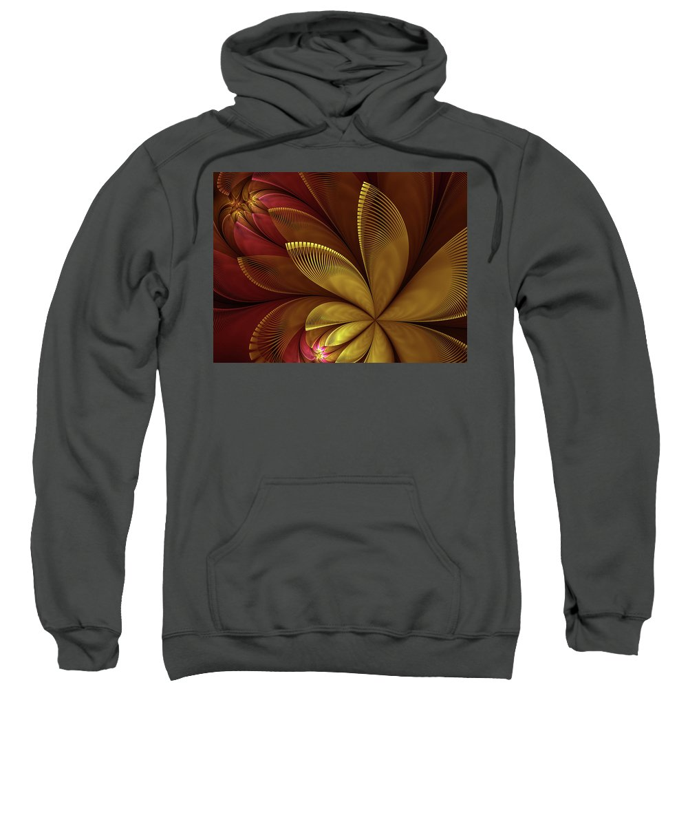 Flower Sweatshirt featuring the digital art Autumn Plant by Gabiw Art