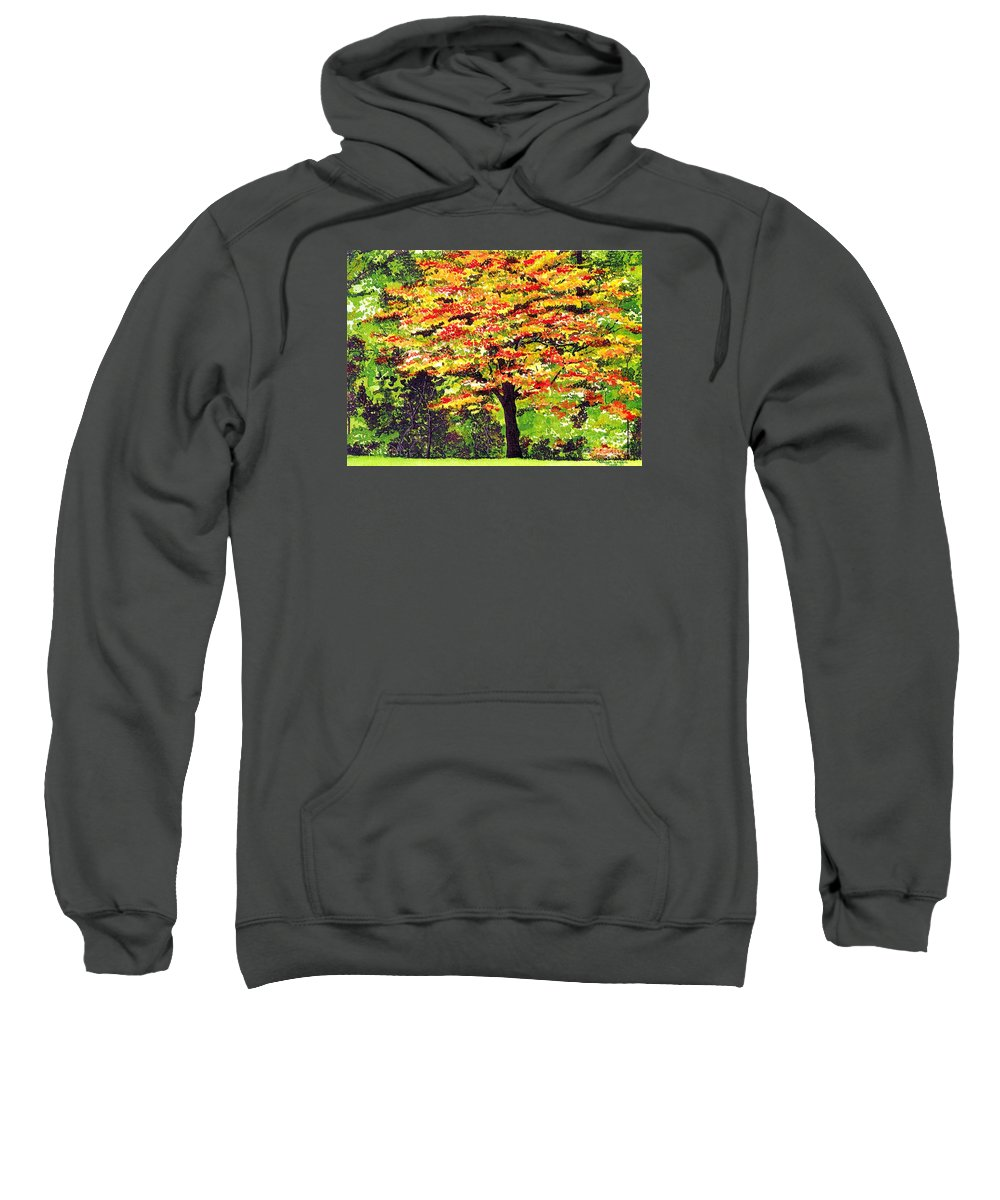 Fine Art Sweatshirt featuring the painting Autumn Splendor by Patricia Griffin Brett