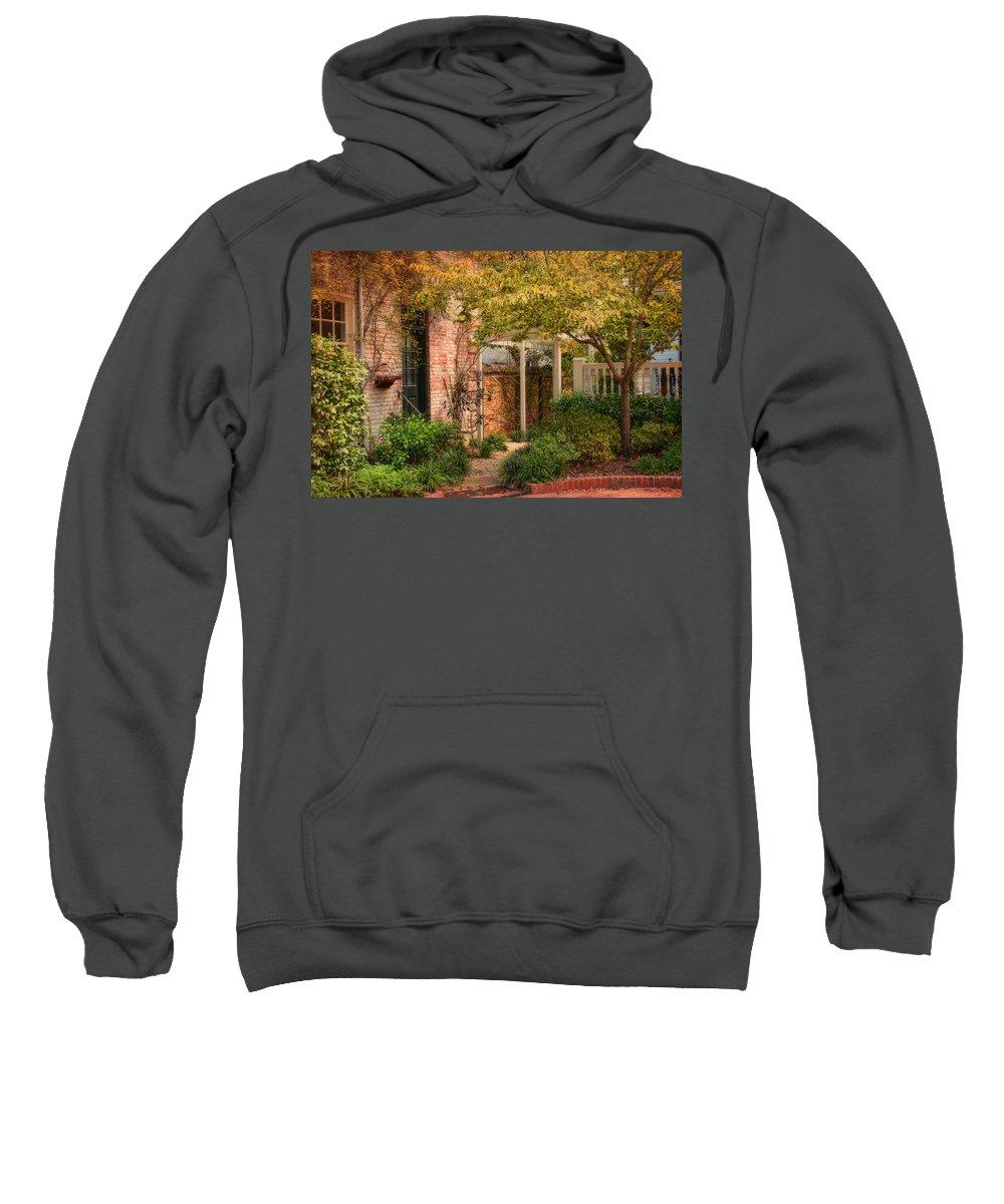 Nature Sweatshirt featuring the photograph Autumn Walk In Pinehurst by Paulette B Wright