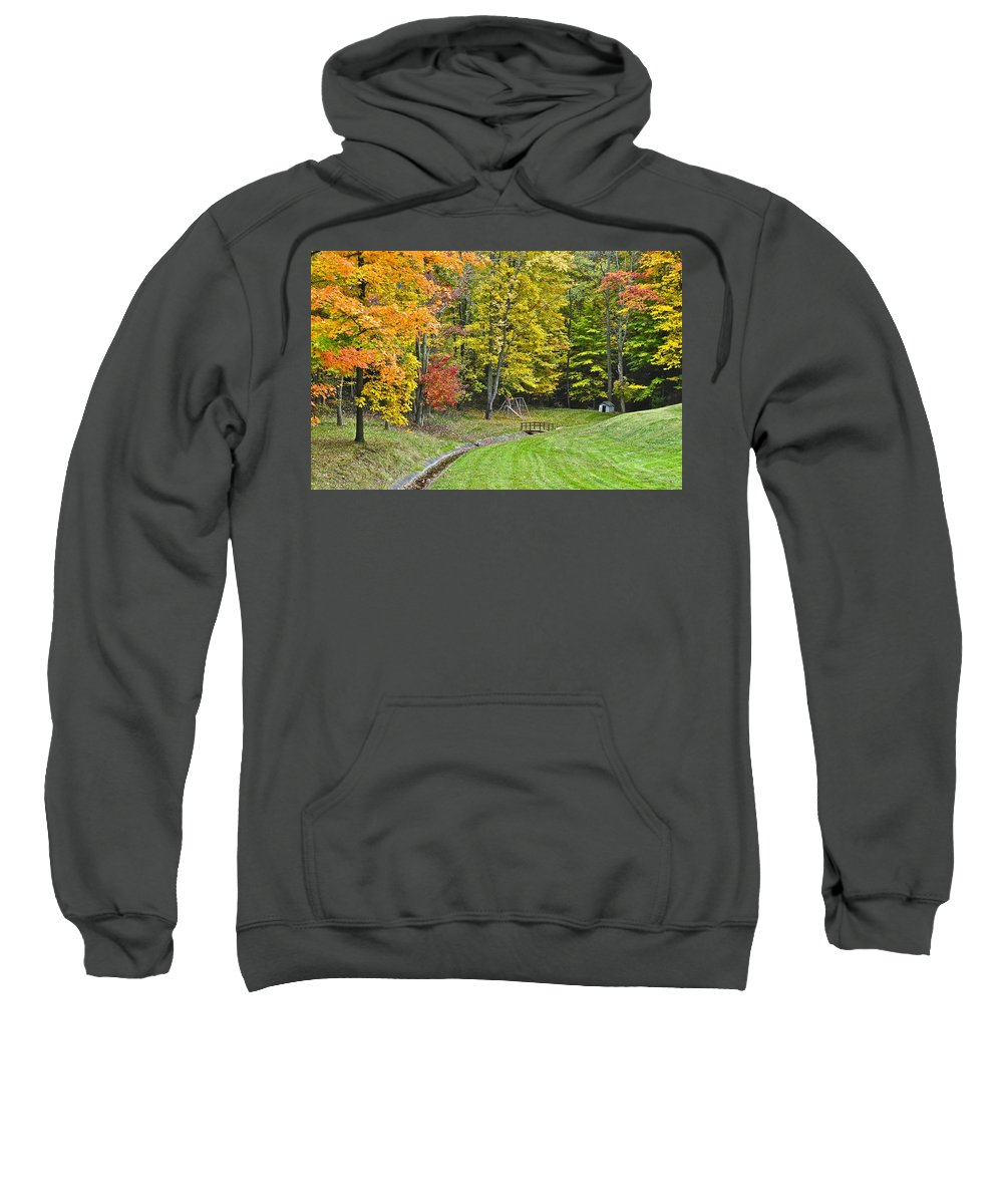 Landscape Sweatshirt featuring the photograph Autumns Playground by Frozen in Time Fine Art Photography