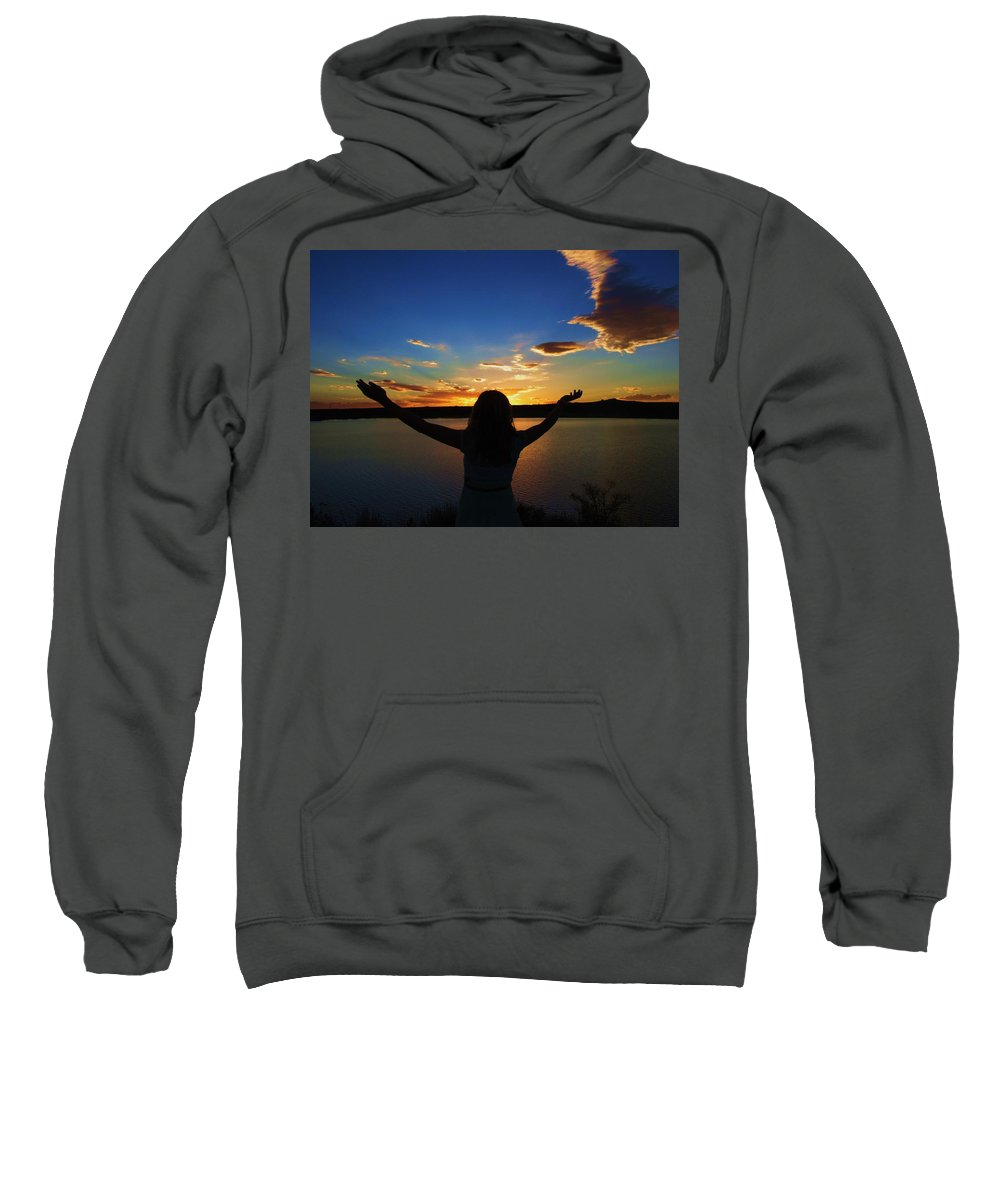Sunset Sweatshirt featuring the photograph Awe by Jewell McChesney