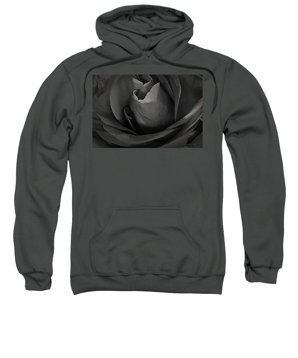 Santa Sweatshirt featuring the photograph B-w Rose by Charles Muhle