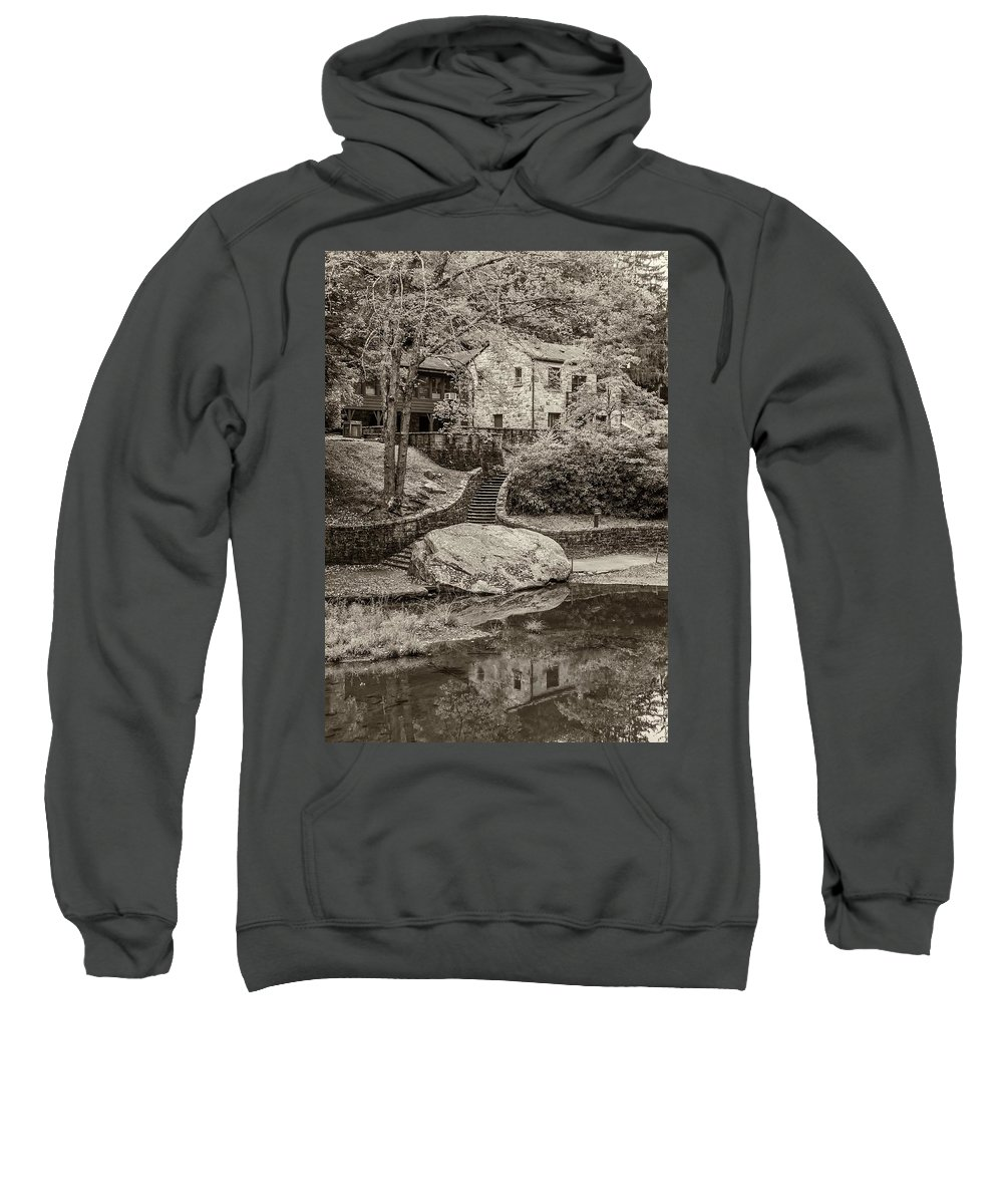 Babcock Sweatshirt featuring the photograph Babcock Sepia by Steve Harrington