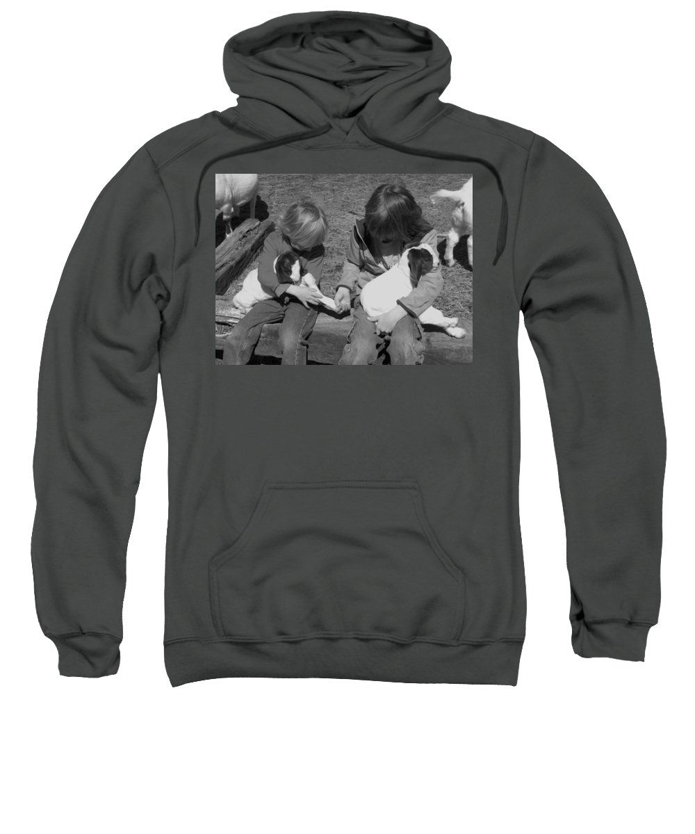 Kid Sweatshirt featuring the photograph Baby Feet by Sheri Lauren
