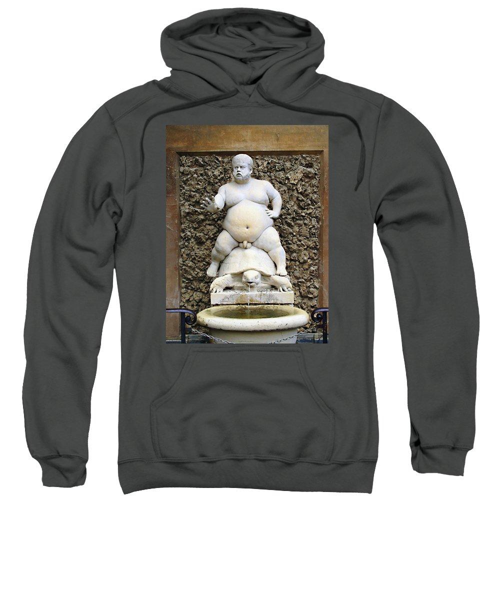 Bacchus Fountain Sweatshirt featuring the photograph Bacchus Fountain by Ellen Henneke