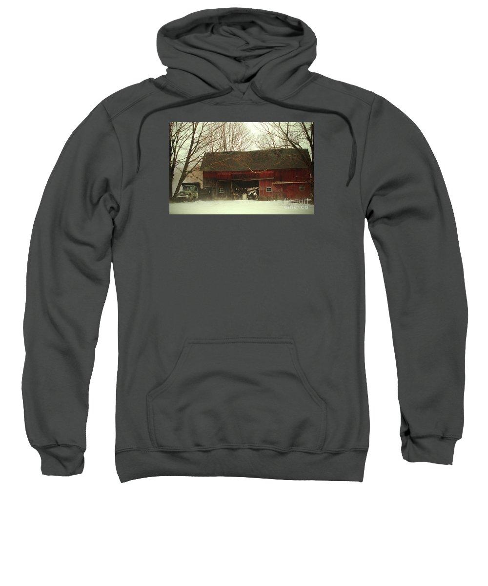 Barn Sweatshirt featuring the photograph Back Road Barn by Karol Livote