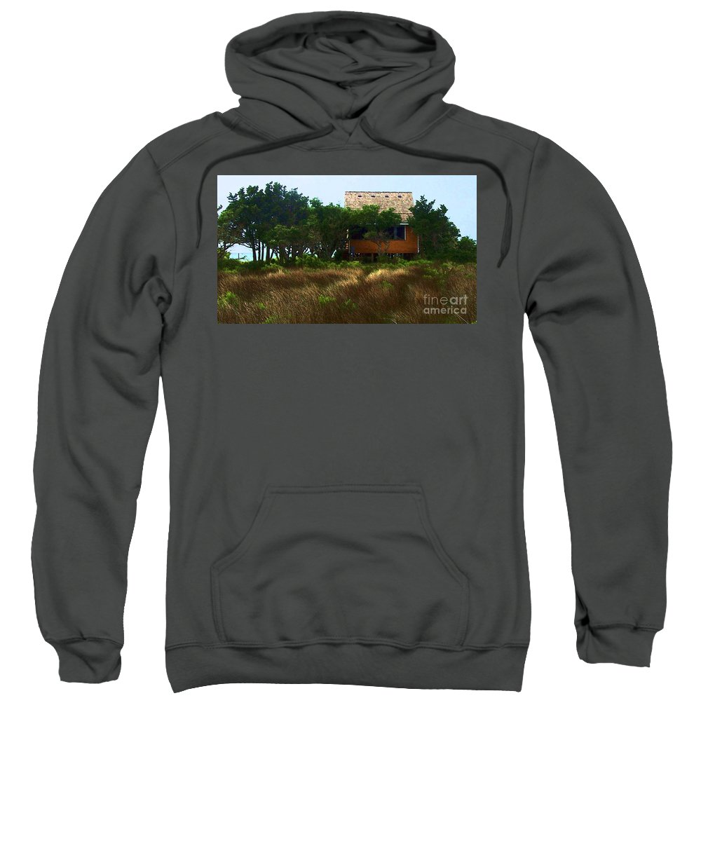Beach Sweatshirt featuring the photograph Back To The Island by Debbi Granruth